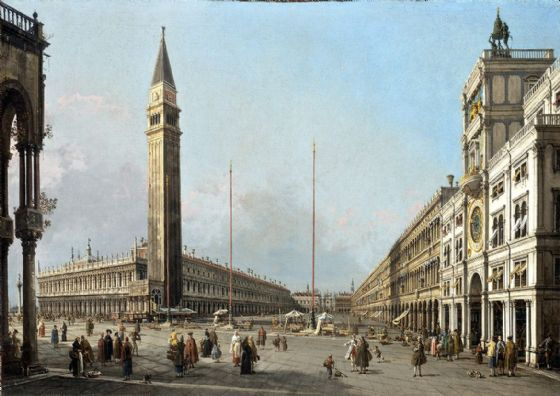 Canaletto, Giovanni Antonio Canal: Piazza San Marco Looking South and West. Fine Art Print/Poster. Sizes: A4/A3/A2/A1 (003452)